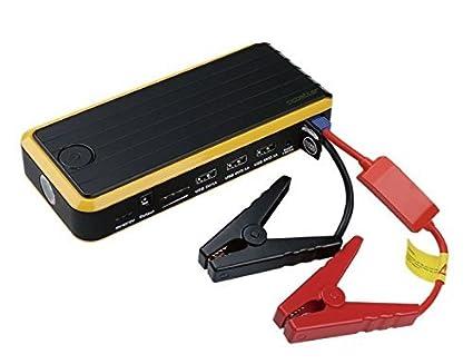 CS401 Arrancador de Baterías de Emergencia Adecuado para Baterías de Automóvil y Barco de 12V, Linterna LED Integrada para SOS, Banco Cargador ...