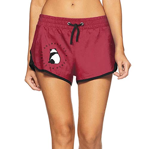 ChenBG Women's My Spirit Animals is a Panda Elastic Vocation Swimming Trunks Light and Quick Dry Swim Shorts]()