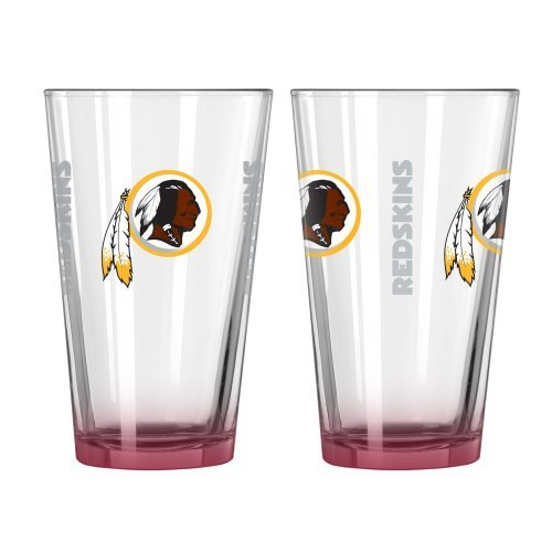 2015 NFL Football Elite Series Beer Pints - 16 ounce Mixing Glasses, Set of 2 (Redskins)