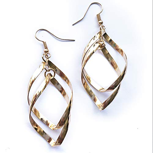 Vandy Fashion OL Love Drops Ring Connected Twisted Earrings