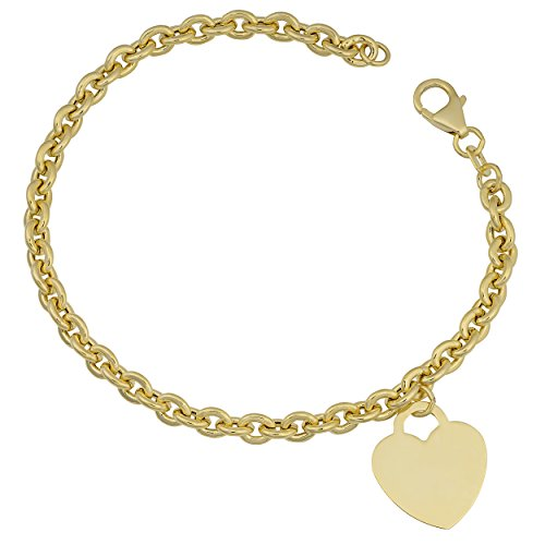 14k Yellow Gold Rolo Link Hear