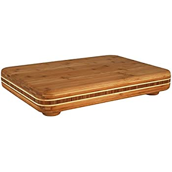 Totally Bamboo Big Easy Chopping Block. An Easy to use Bamboo Cutting Board with Non-Skid Feet, Made of Bamboo Board; 100% Organic; Perfect for Cooking, Entertaining, Decor and Gift Set