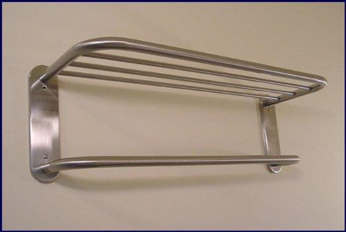 Hotel Towel Rack Shelf in Satin Nickel 18