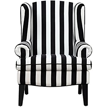 Tov Furniture The Paris Collection Modern Velvet Fabric Upholstered Wood  Living Room Accent Wingback Chair,