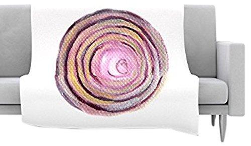 17 by 24 Kess InHouse Theresa Giolzetti Radish Pink White Memory Foam Bath Mat