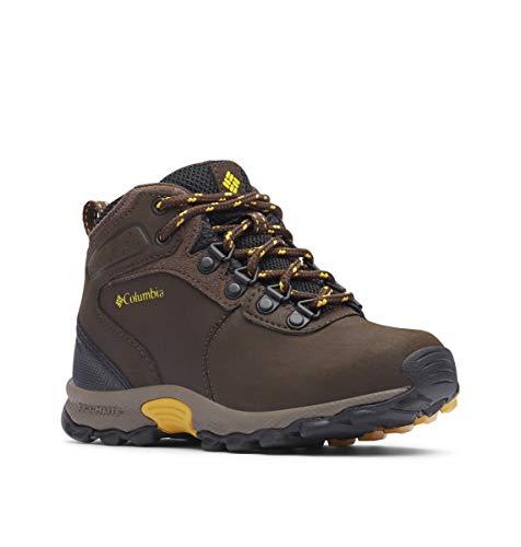 Columbia Unisex-Kid's Youth Newton Ridge Hiking Shoe, Cordovan/Golden Yellow, 5