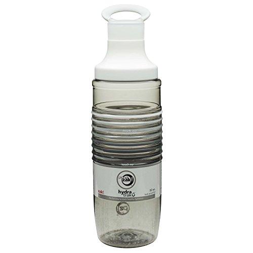 Zak Designs HydraTrak Chug Single Wall Bottle with 8 Rainbow Bands Ghost, 32 oz, (Insulated Band Bottle)