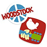Popfunk Woodstock Guitar and Dove Logo Collectible Stickers