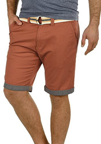 Court Short Chino solid Homme Lagos Bermuda Coupe Ceinture 6792 Régulaire Brown Pantalon Fox Extensible XUTT6