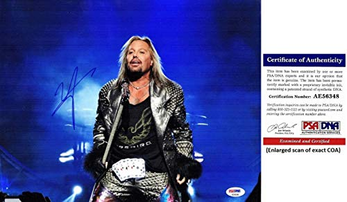 Vince Neil Signed - Autographed Motley Crue Singer 11x14 inch Photo - Certificate of Authenticity (COA) - PSA/DNA Certified