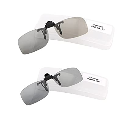 Tacloft Unisex Adult Polarized 3D Clip-on Glasses 2 Pack (RealD & IMAX)