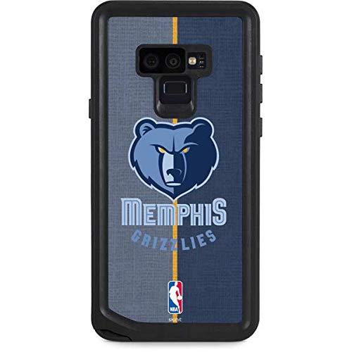 Skinit NBA Memphis Grizzlies Galaxy Note 9 Waterproof Case - Memphis Grizzlies Canvas Design - Sweat-Proof, Snow-Proof, Dirt-Proof, Dust-Proof Phone -
