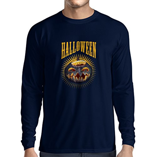Long Sleeve t Shirt Men Halloween Pumpkin - Clever Party Costume Ideas 2017 (Small Blue Multi Color)]()