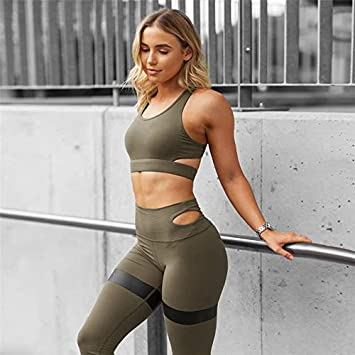 MAGA 1 Yoga Set Women Fitness Sport Suit Two Pieces Gym Clothing Hollow Out  Sports Leggings 7c09fcc62