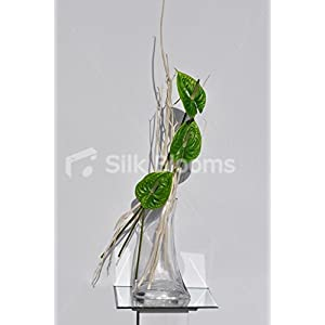 Tall Green Anthurium & Whitewashed Branches Floral Arrangement 12