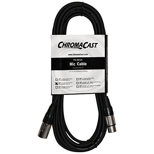 ChromaCast Pro Series 20 Foot XLR to XLR Microphone Cable, Black