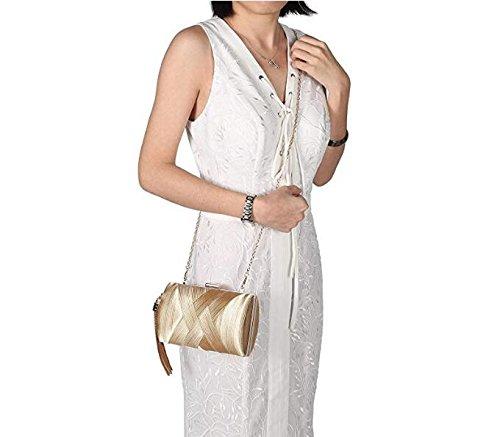 Women's Tassel Party Gold Evening Purse Clutch Wedding Pendant Silk Elegant Bridal Bags rrBqnwFg5