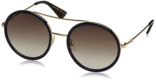 Gucci Womens 56mm Round Sunglasses, One Size, Gold / Brown / - Glasses Gucci Round
