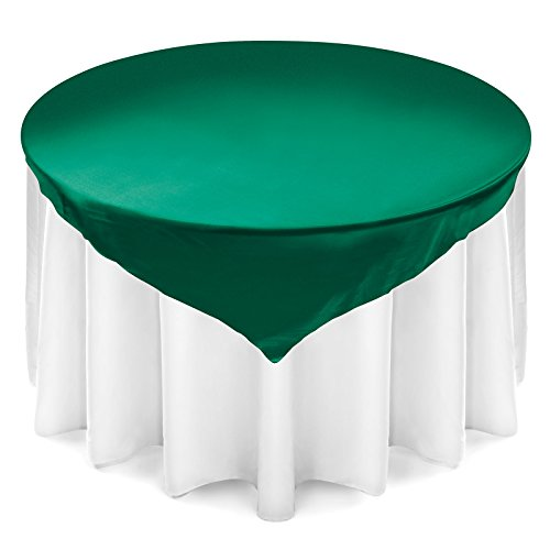 (Lann's Linens Satin Wedding Table Overlay - Tablecloth Topper (72