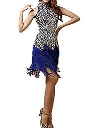 Women's Tassel Sequins Latin Dance Dress