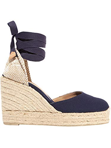 Ruanyu Womens Platform Espadrille Sandals Lace Up Closed Toe Summer Wedge Sandals