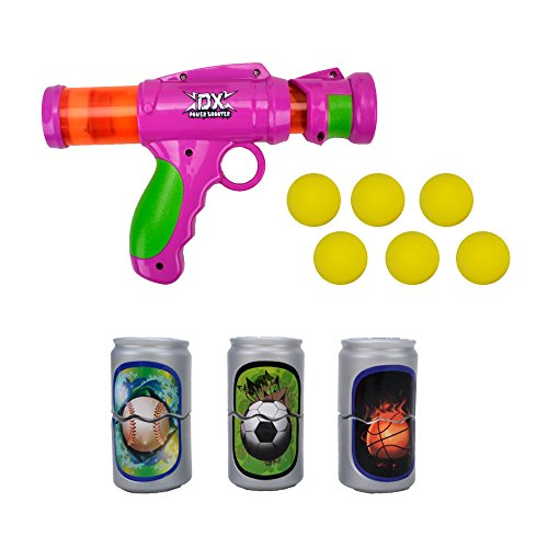 Ball Design Foam (Foam Shooter Battle Ball Gun - 2017 Wishtime New Design Atomic Pump Action Shooter Pistols for Child Kids Rival Game Guns Best Gifts Set Toys 6 Balls 3 Target)