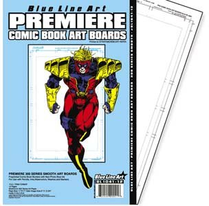 Premiere (Strathmore 300) Smooth Comic Book Art Boards by Blue Line Art