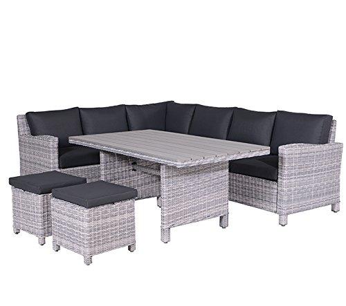 Poly rattan lounge grau  Garden Impressions Lounge/Dinner Set, 5-teilige Poly Rattan Lounge ...