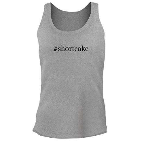 Tracy Gifts #Shortcake - Women's Junior Cut Hashtag Adult Tank Top, Heather, Medium - Strawberry Shortcake New Shirts