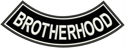 BROTHERHOOD BACK PATCH ROCKER FOR MOTORCYCLE BIKER VEST JACKET Side Rocker