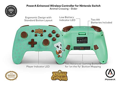 PowerA Enhanced Wireless Controller for Nintendo Switch - Animal Crossing: Ok.Ok. Slider