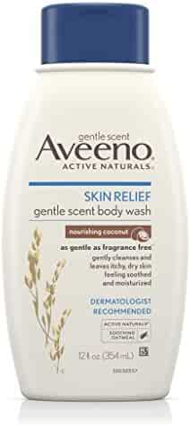 Aveeno Skin Relief Gentle Scent Body Wash For Sensitive Skin, Nourishing Coconut, 12 Fl. Oz