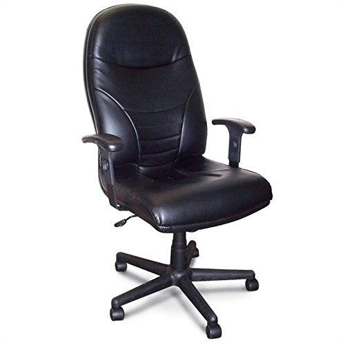 Mayline 9413AGBLT Comfort Series Executive High-Back Chair Black Leather, Black by Tiffany & Co.