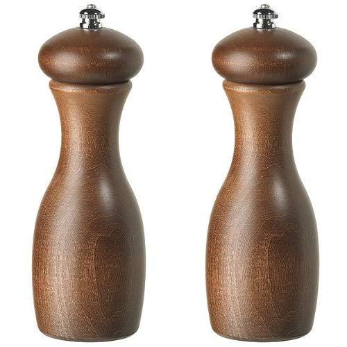 Fletchers' Mill Marsala Collection Salt & Pepper Mill, Walnut Stain - 7 Inch, Adjustable Coarseness Fine to Coarse, MADE IN U.S.A. ()