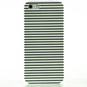 TY-Negro& caso duro del patrón de rayas blanco para el iphone 5 / 5s