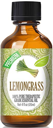 Lemongrass Essential Oil - 100% Pure Therapeutic Grade Lemongrass Oil - 120ml by Healing Solutions