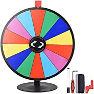 """WinSpin 24"""" 14 Slot Tabletop Color Dry Erase Prize Wheel +Stand Fortune Spinning Game Trad"""