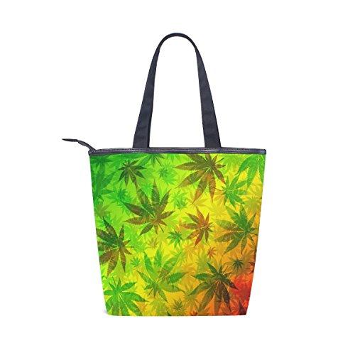 Feuilles tout D'épaule Marijuana Coloré De Cannabis Fourre Sac Alaza À Main nwAqYZfSc