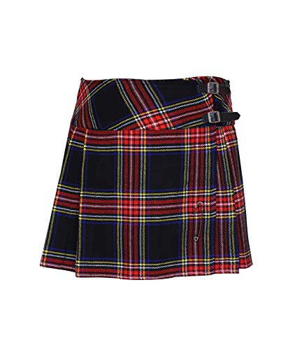 Cloud Enterprises Ladies Tartan Plated Billie Kilt Skirts with Free Pin!! 16 & 18 inch Length