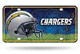 "NFL San Diego Chargers ""Bolt Logo"" Metal Auto Tag"
