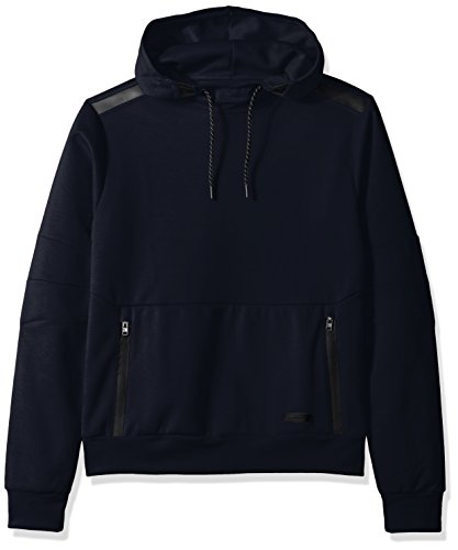 - Southpole Men's Tech Fleece Hooded Tops (Full-Zip, Pullover), Navy, Large