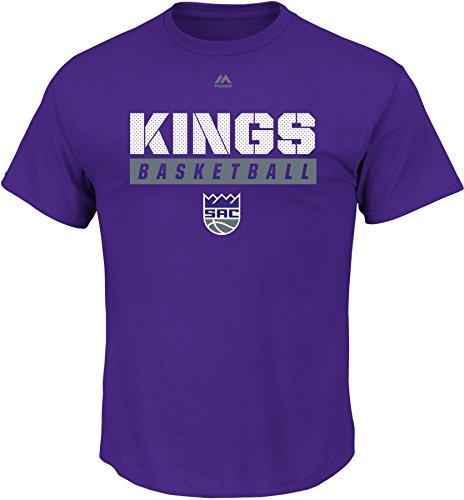 NBA Sacramento Kings Men's Proven Pastime Short Sleeve Crew Neck Tee, Large, Regal Purple