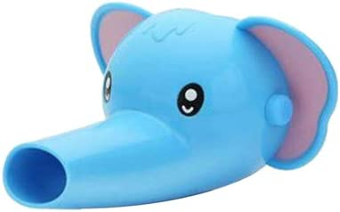 Rubinetto Extender Lavandino del Bagno Maniglia Extender per I pi/ù Piccoli Bambini Promuove Lavaggio A Mano in Bambini 1PC Blue Elephant 10 * 10cm