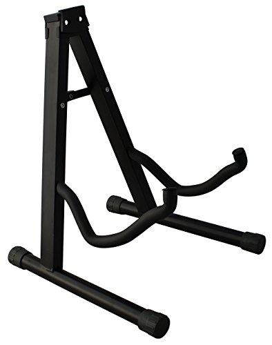 YmcYMC Universal Folding Guitar Stand with Secure Lock - for Acoustic and Electric Guitar by YMC