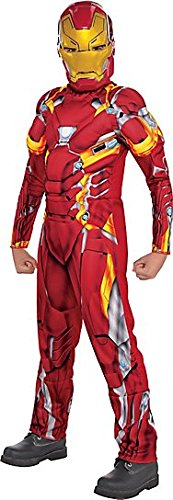 Boys Iron Man Muscle Costume - Captain America: Civil War