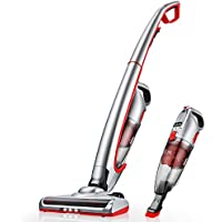 Deik Vacuum Cleaner, 2 in 1 Cordless Vacuum Cleaner, Cordless Vacuum with High-power and Long-lasting, Rechargeable Lithium Ion Lightweight Stick Vacuum Cleaner