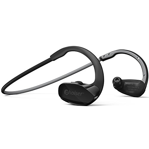 Phaiser BHS-530 Bluetooth Headphones, Wireless Earbuds Stereo Earphones for Running with Mic and Lifetime Sweatproof Guarantee, Icegrey
