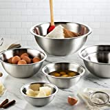 Stainless Steel Mixing Bowls (Set of 6) Stainless