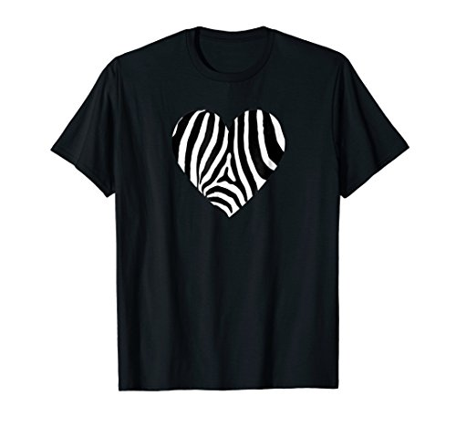 - I Love Zebras T-Shirt Zebra Print Heart Zebra Stripes Safari