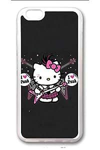 iPhone 6Plus Funda, TPU caso transparente resistente para iPhone 6Plus [colorido] [Cool] [Delgado] Caso de material de alta calidad TPU, anti-arañazos para iPhone 6Plus Hello Kity 15